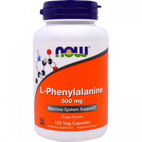 L-Phenylalanine 500 mg NOW Foods 120 Veggie Caps