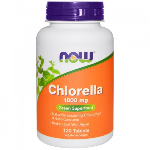 Chlorella 1000 mg NOW Foods 120 tabs