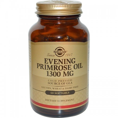 Evening Primrose Oil 1300 mg Solgar 60 Softgels