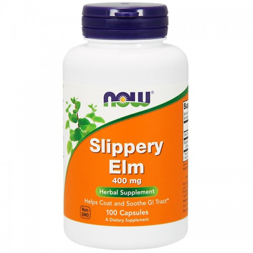 Slippery Elm 400 mg NOW Foods 100 сaps