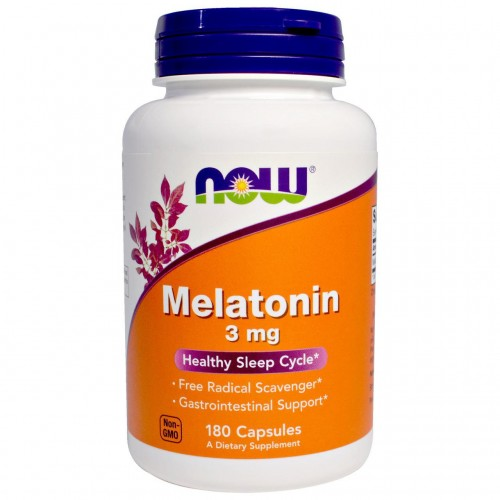 Melatonin 3 mg NOW Foods 180 Caps