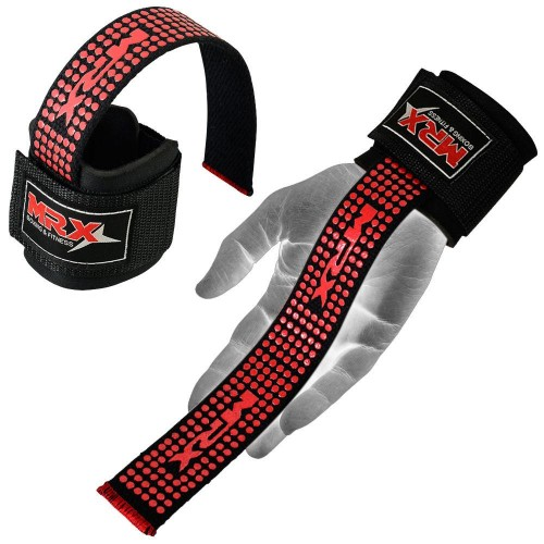 Лямки станові MEX Nutrition V-Pro Lifting Straps Red