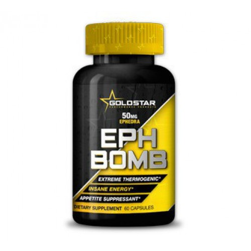 Жироспалювач Gold Star Eph Bomb + 50 mg Ephedra + DMAA 60 caps