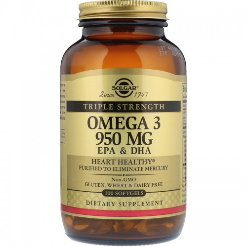 Triple Stength Omega-3 950 mg Solgar 100 Softgels