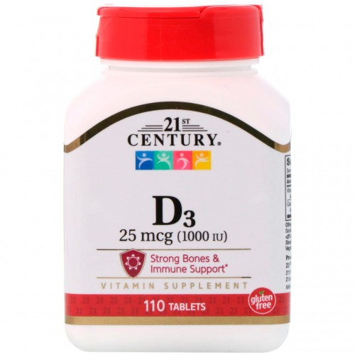 Вітамін D3 21st Century High Potency 1000 IU 110 tabs