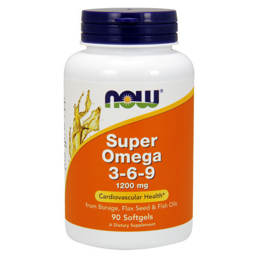 Жирні кислоти NOW Foods Super Omega 3-6-9 1200 mg 90 Softgels