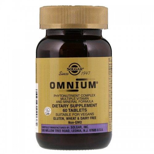 Solgar Omnium Multiple Vitamin and Mineral Formula 60 tabs