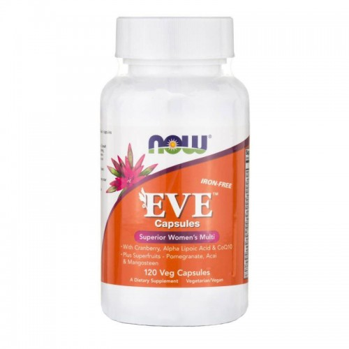 Eve Superior Women's Multi Iron-Free NOW Foods 120 Veggie Caps