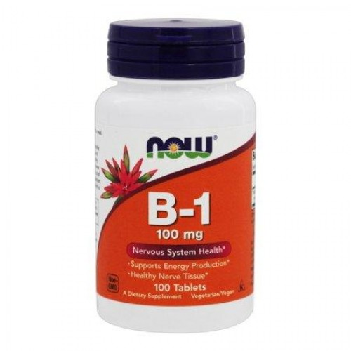 B-1 100 mg NOW Foods 100 Tabs