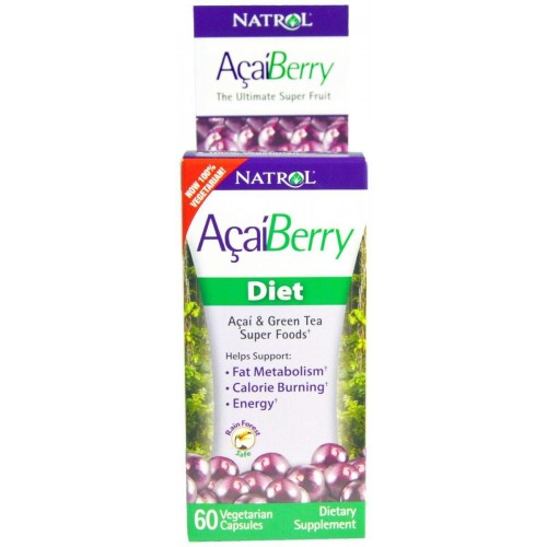 Жироспалювач Natrol AcaiBerry Diet, Acai & Green Tea Superfoods, 60 VCaps