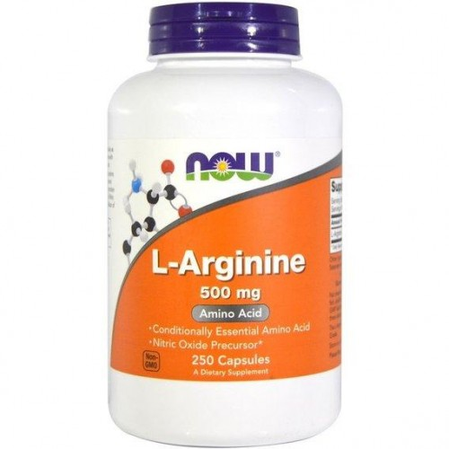 Амінокислота NOW Foods L-Arginine 500 mg 250 caps