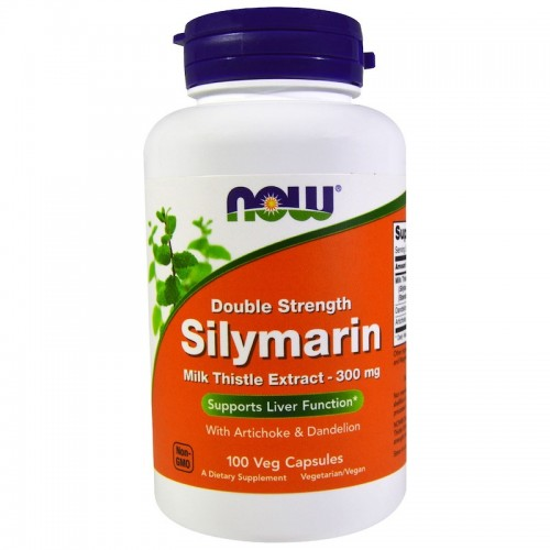 NOW Foods Silymarin Milk Thistle Extract with Artichoke & Dandelion 300 mg 100 caps