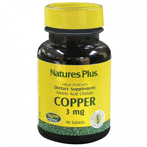 Мідь в таблетках Nature's Plus Copper 3 mg 90 Tabs