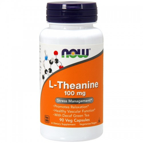 NOW Foods L-Theanine 100 mg 90 VCaps