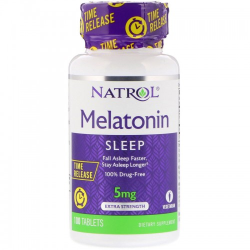Мелатонін Natrol Melatonin Time Release 5 mg 100 Tabs