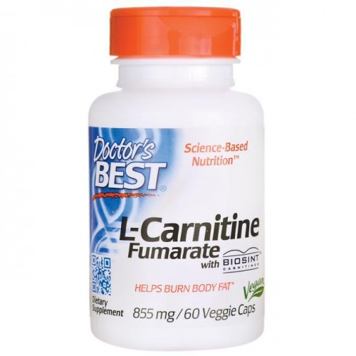 Doctor's Best L-Carnitine Fumarate with Biosint Carnitines 855 mg 60 VCaps