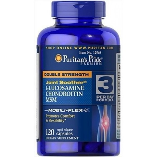 Puritan's Pride Double Strength Glucosamine Chondroitin 120 Softgels
