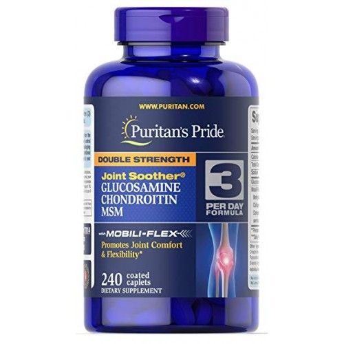 Puritan's Pride Double Strength Glucosamine Chondroitin MSM 240 softgels