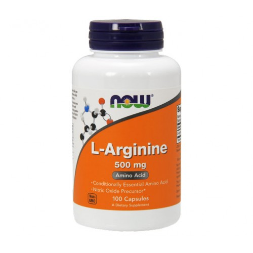 Амінокислота NOW Foods L-Arginine 500 mg 100 caps