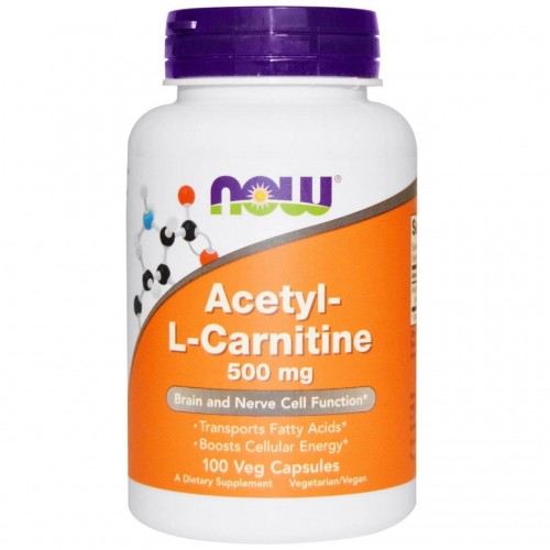 Жироспалювач NOW Foods Acetyl-L-Carnitine 500 mg 100 caps