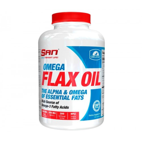 Жирні кислоти SAN Omega Flax Oil 200 Softgels
