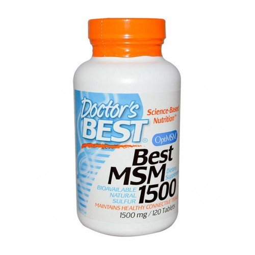 Doctor's Best MSM with OptiMSM 1500 mg 120 Tabs