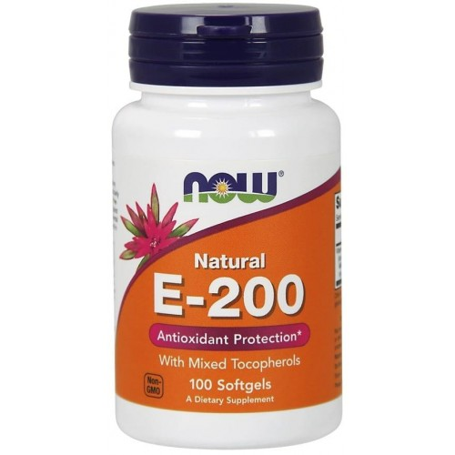 Вітамінна добавка NOW Foods Vitamin E-200 IU Mixed Tocopherols Softgels 100 caps