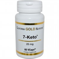 7-Keto 25 mg California Gold Nutrition 60 VCaps