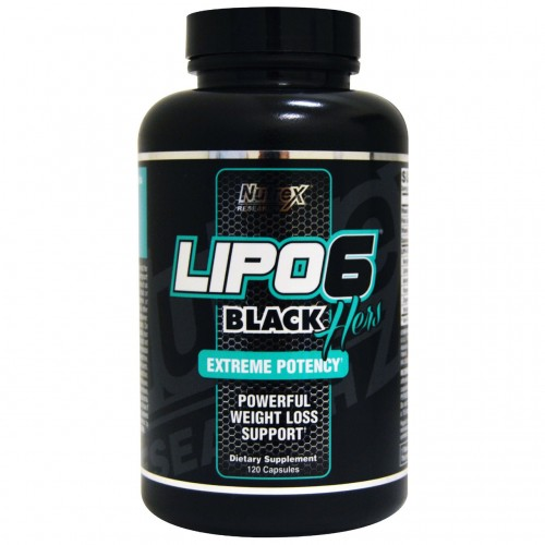 Lipo-6 Black Hers Extreme Potency Nutrex 120 Caps