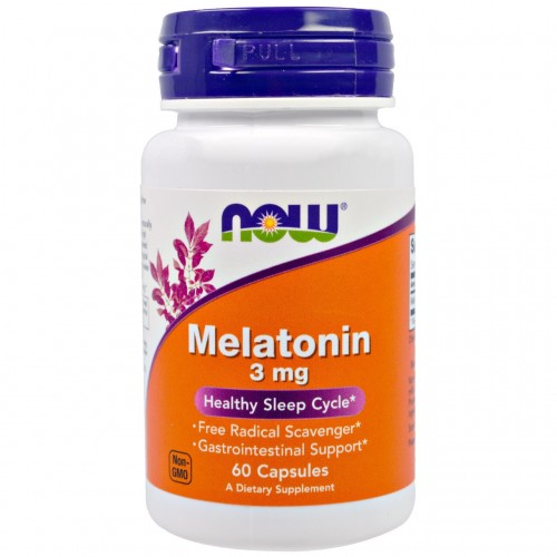 Melatonin 3 mg NOW Foods 60 Caps