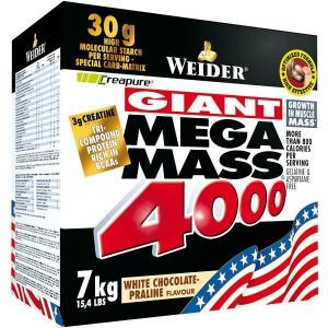 Гейнер Weider Mega Mass 4000 Высококалорийный гейнер, 7 кг