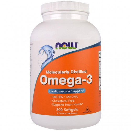 Omega-3 Cardiovascular Support NOW Foods 500 Softgels