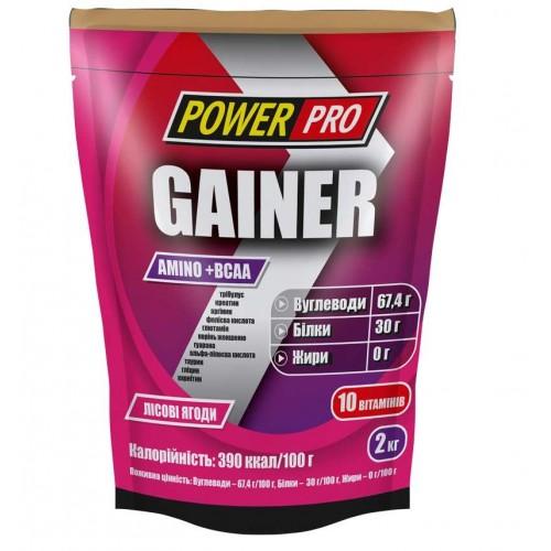 Гейнер Power Pro Gainer Amino+BCAA 2000 г Лісова Ягода