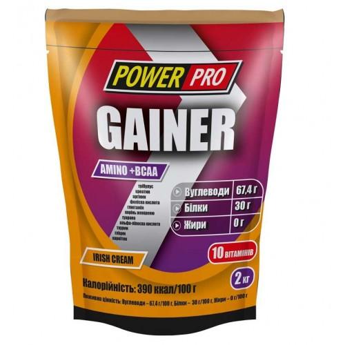 Гейнер Power Pro Gainer Amino+BCAA 2000 г Ірландський Крем