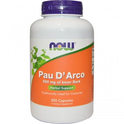 NOW Foods Pau D' Arco 500 mg 250 Capsules