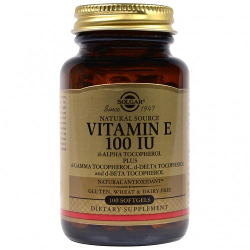 Solgar Natural Vitamin E 100 IU 100 Softgels